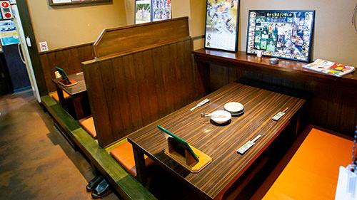 座敷・テーブル、どちらも選べます