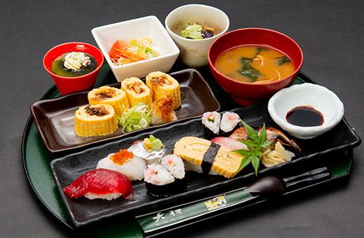 握り寿司&鰻の出し巻きランチ