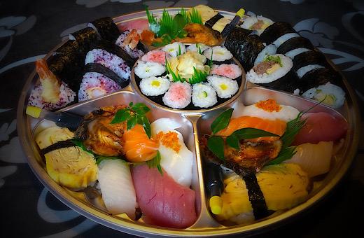 海老の天巻&お寿司盛り合わせ
