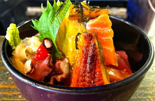 海鮮丼&あおさの出し巻きランチ